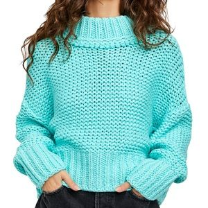 Free People NWT My Only Sunshine Cowl Neck Sweater